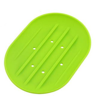 Silicone Soap Dish Shower Tray Soap Saver Holder
