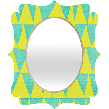 Nick Nelson Analogous Shapes With Gold Quatrefoil Mirror