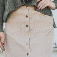Stand Out Mini Skirt - Sand