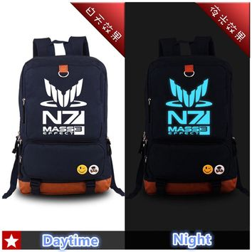 Mass Effect High Quality N7 Luminous Printed Canvas Backpack