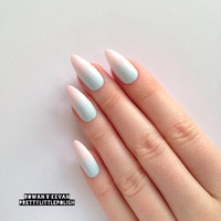 Pastel ombre gradient stiletto nails, Nail designs, Nailart, Nails, Stiletto nails, Acrylic nails, Pointy nails, Fake nails, False nails
