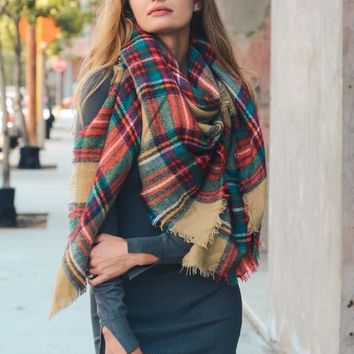 Falling Leaves Scarf - Taupe