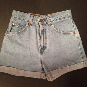 Vintage Levi high waisted shorts by OnceWasAnAngel on Etsy