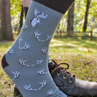 Antler Midcalf - Sock Dreams - Unique Colorful Socks