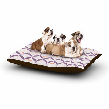 "Neelam Kaur ""Textured Modern Reminisence"" White Pink Dog Bed"