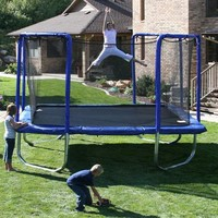 Trampoline Part Store® 13 Ft. (Frame Size) Square Trampoline Net for 4 Arch Enclosure System (Skywalker Stsc13bc) Purchase Includes Free Shipping, the Safety Net & Tie Downs