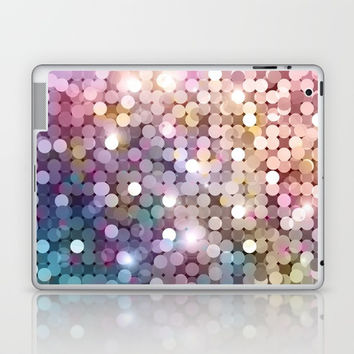 Rainbow glitter texture Laptop & iPad Skin by printapix