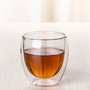 80ml Clear Double Wall Glass Double Glass Coffee Tea Cups Glassware Milk Beer Soup Mugs And Insulated Wine Cups New Technology