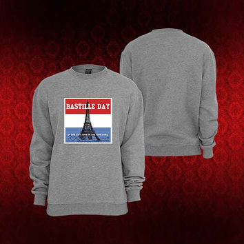 bastille day sweater Sweatshirt Crewneck Men or Women Unisex Size