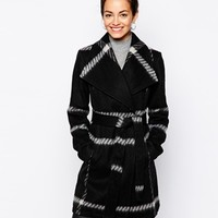 New Look Check Wrap Coat at asos.com