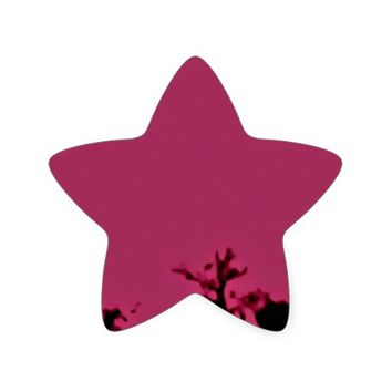 Tropical Nature Star Sticker