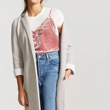 Heathered Knit Longline Jacket