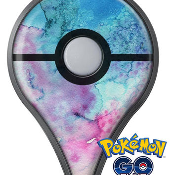 Blue 2 Absorbed Watercolor Texture Pokémon GO Plus Vinyl Protective Decal Skin Kit