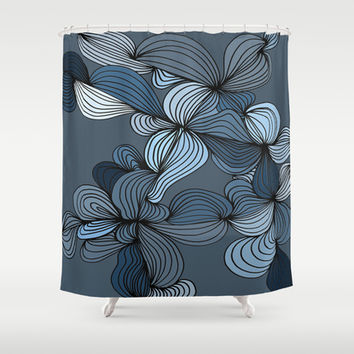 The Blues Shower Curtain by DuckyB (Brandi)