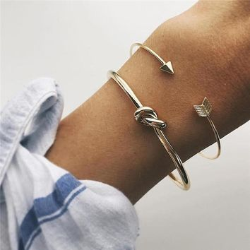 2pcs/set Bracelet Bangle Rose Gold Simple Twist Cuff Open For Women Luxury Indian Ethiopian Jewelry Costume Jewellery