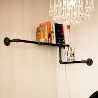Pipe Corner Shelf by DirtyBils on Etsy