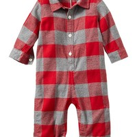 Gap Baby Plaid Flannel One Piece