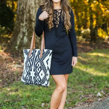 The World Is Yours Dress-Black