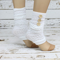 WOOL Leg warmers- button down lace leg warmers knit lace leg warmers boot socks birthday day gifts
