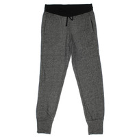 Three Dots Womens French Terry Heathered Jogger Pants