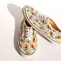 Vintage Mickey Vans - Rare - Mickey Mouse - Disney Vans - USA Made 1988