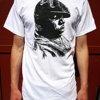 NOTORIOUS BIG T-SHIRT mens new tee biggie smalls hip hop clothing era rap music death graffiti white