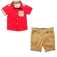 Boys Summer 2 PC Shirt+Shorts
