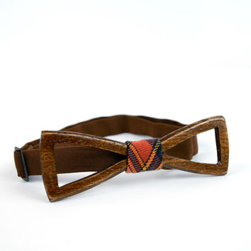 Wooden Bow Tie For Man. Fashion Accessories For Man. Bowties With Holes. Regular shape. Perfect Man Gift Made by Three Snails Free Shipping!