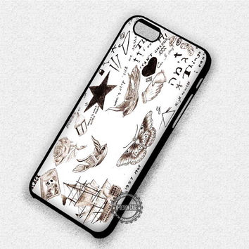 Harry Styles Tattoos Collage - iPhone 7 6 Plus 5c 5s SE Cases & Covers