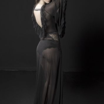 Nicolette Sheer Gown