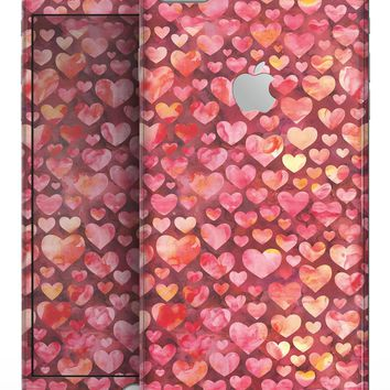 Red Watercolor Hearts - Skin-kit for the iPhone 8 or 8 Plus