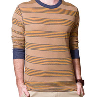 Alternative Apparel Passbook Tee - Bark Montreal Stripe
