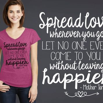 Spread Love T-shirt | Mother Teresa
