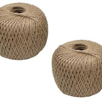 2 ROLLS 400' Jute Twine - Made From 100% Plant Fibers - Gardening, Crafts