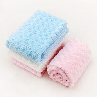 New rose soft baby blanket Newborn Photography Props coral fleece bedding infant boy and girl wrap swaddle manta bebe