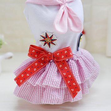 Spring Pet Sailor Tutu