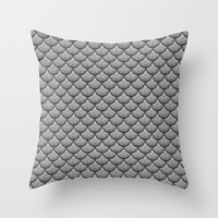 India Ink (Gray) Throw Pillow by Lyle Hatch | Society6