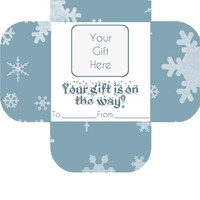 Gift Won't Get There in Time? NEVER Fear! Our AWESOME Christmas Card Insert will Save the Day! Belated New Gift Idea Fun Getting Mail Do It