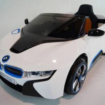New 2015 BMW I8 JE 12V Kids Ride On Power Wheels Battery Toy Car - White