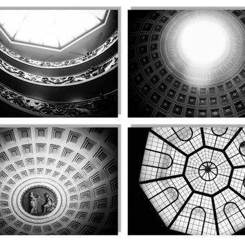Abstract Photography, Italy Photography, Set of 4 8x10 Prints, Black and White Photography, Geometric, Abstract Art, Rome, Architecture