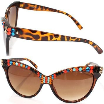 WILLOW SWAROVSKI CRYSTAL CATEYE SUNGLASSES