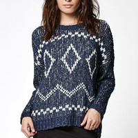 Element Coline Jacquard Pullover Sweater - Womens Sweater - Blue