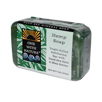 One With Nature Dead Sea Mineral Hemp Soap - 7 oz