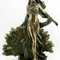 Hera & Peacock Statue - Greek Mythology - Magnificent - Ships Immediatly !!