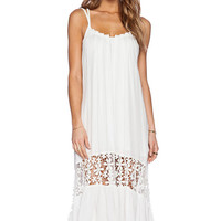 White Hollow Midi Summer Dress