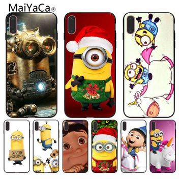 MaiYaCa Funny Sale Minion My Coque Shell Phone Case  For iphone X XS XE XSMax 8 8plus Black Case cover 5 5s SE 7 7plus 6 6s case