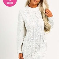 Bonnie Oatmeal Cable Knit Jumper