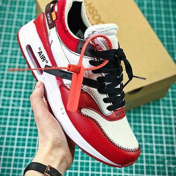 Off White X Nike Air Max 1 Sport Shoes - Best Online Sale
