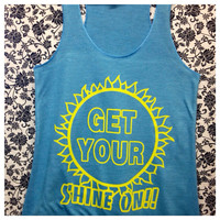 Get Your Shine On razorback Tank by ThreadsToo on Etsy