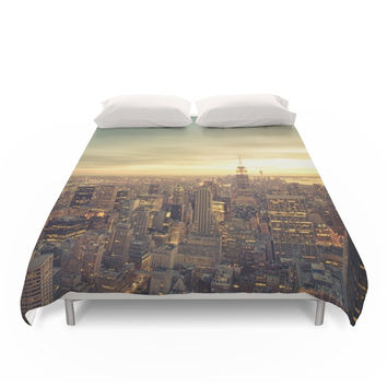 Society6 New York Skyline Cityscape Duvet Cover